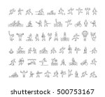 vector line sports icons.... | Shutterstock . vector #500753167