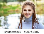 young beautiful woman with... | Shutterstock . vector #500753587