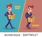 happy successful young business ... | Shutterstock .eps vector #500758117