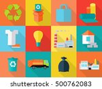 waste recycling icons sign...   Shutterstock .eps vector #500762083