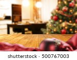 christmas interior with empty... | Shutterstock . vector #500767003
