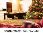 christmas interior with empty... | Shutterstock . vector #500767033