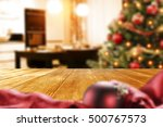 wooden table of free space and... | Shutterstock . vector #500767573
