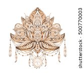 hand drawn ornate vector... | Shutterstock .eps vector #500770003
