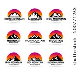 set of various vector mountains ... | Shutterstock .eps vector #500771263