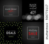 black friday sale illustrations ... | Shutterstock .eps vector #500773117
