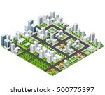 great 3d metropolis of... | Shutterstock . vector #500775397