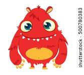 happy cartoon monster. vector... | Shutterstock .eps vector #500780383
