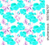 watercolor poppy seamless... | Shutterstock . vector #500786707
