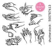 sketch healthcare black and... | Shutterstock .eps vector #500787613