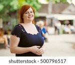 portrait of attractive plus... | Shutterstock . vector #500796517