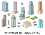 3d kit metropolis of... | Shutterstock . vector #500799763