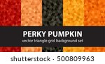"triangle pattern set ""perky... 