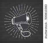 bullhorn or megaphone ... | Shutterstock .eps vector #500810383