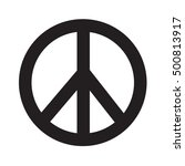 peace sign icon illustration... | Shutterstock .eps vector #500813917