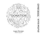 big set of symbols of charity ... | Shutterstock .eps vector #500818663
