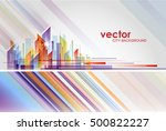 building and city illustration... | Shutterstock .eps vector #500822227