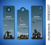 Halloween Greeting Card Flat...