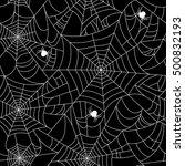 black spider web seamless... | Shutterstock .eps vector #500832193