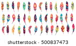 big vector set of ethnic... | Shutterstock .eps vector #500837473