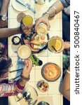 indian community eating... | Shutterstock . vector #500840467