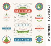christmas labels and badges... | Shutterstock .eps vector #500846527