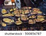 fresh healthy eggplant or... | Shutterstock . vector #500856787