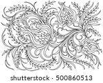 background with flowers and... | Shutterstock .eps vector #500860513