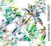 nature botanic floral seamless... | Shutterstock . vector #500866597