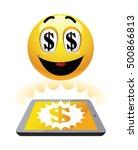 freelance earning. illustration ... | Shutterstock .eps vector #500866813