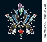 set of bird patches elements.... | Shutterstock .eps vector #500881753