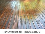 freshly stained wooden deck... | Shutterstock . vector #500883877