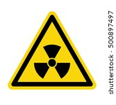 radiation warning sign  vector ... | Shutterstock .eps vector #500897497