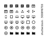 vector set of thin line icons...