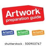 artwork preparation guide... | Shutterstock .eps vector #500903767
