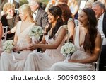 laughing bridesmaids in pretty... | Shutterstock . vector #500903803