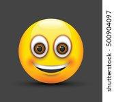 smiling emoji big realistic... | Shutterstock .eps vector #500904097