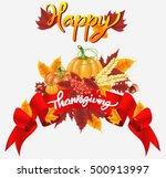 happy thanksgiving celebration... | Shutterstock .eps vector #500913997