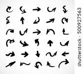 hand drawn arrows  vector set | Shutterstock .eps vector #500927563
