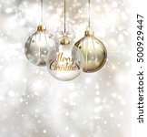 christmas three evening balls.... | Shutterstock .eps vector #500929447