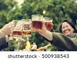 group of people cheers concept | Shutterstock . vector #500938543
