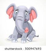 cute little elephant sitting... | Shutterstock .eps vector #500947693