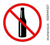 non alcohol sing with beer... | Shutterstock .eps vector #500949307