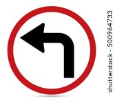 traffic sign  turn left ahead... | Shutterstock .eps vector #500964733