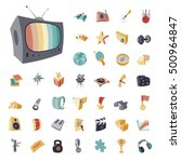 vintage icons set for...