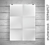 blank paper poster vintage... | Shutterstock .eps vector #500966917