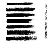 vector set of grunge brush...   Shutterstock .eps vector #500967253