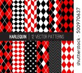 harlequin vector patterns in...