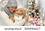 people  christmas  holidays and ... | Shutterstock . vector #500996617