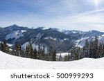stevens pass mountain landscape ... | Shutterstock . vector #500999293